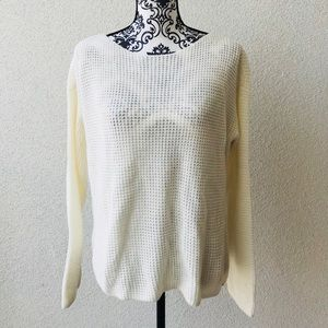 😍NWT Lord&taylor white casual sweater M
